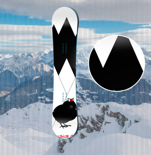 Print Chick Snowboard
