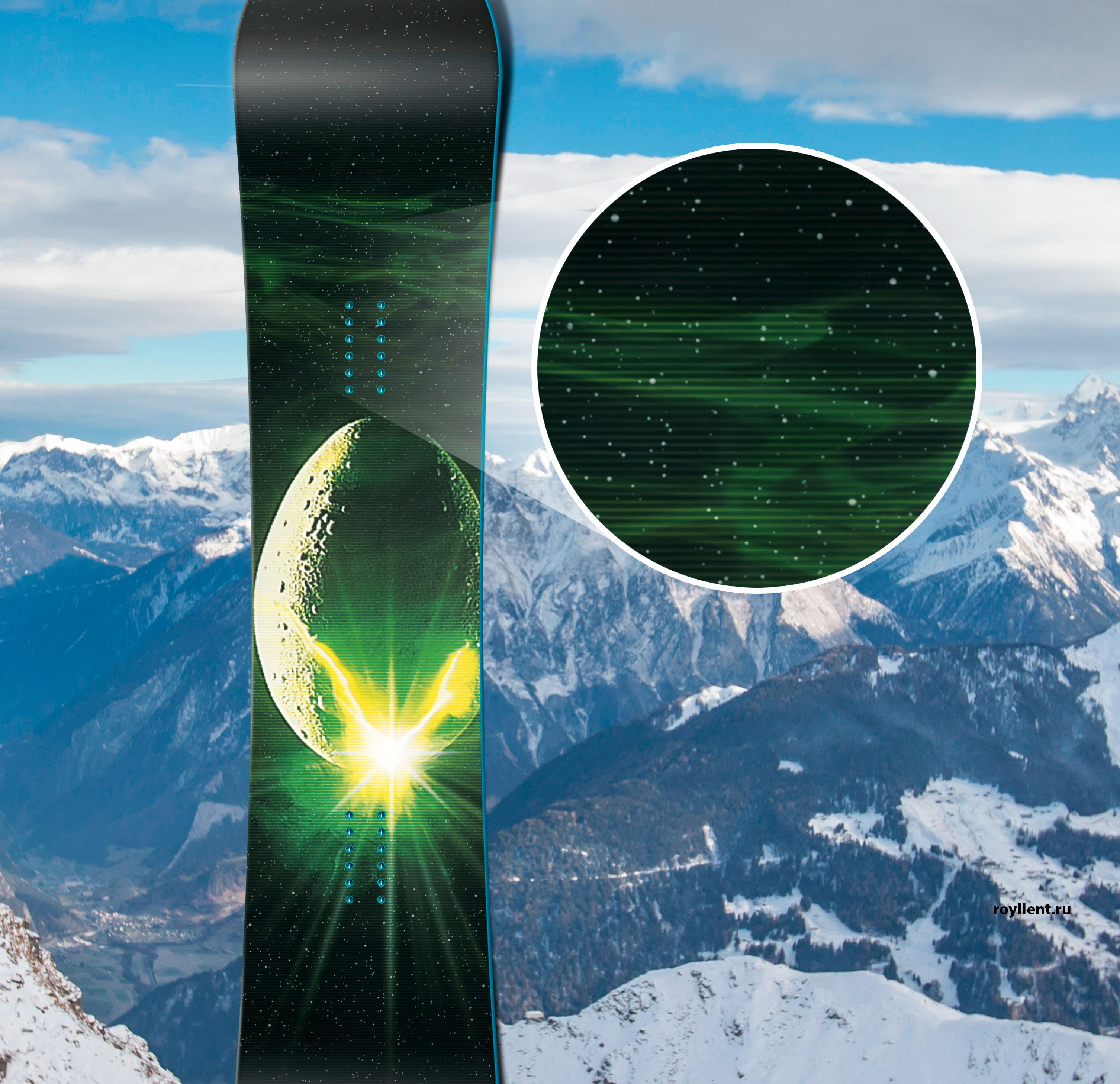 Design snowboard film Alian