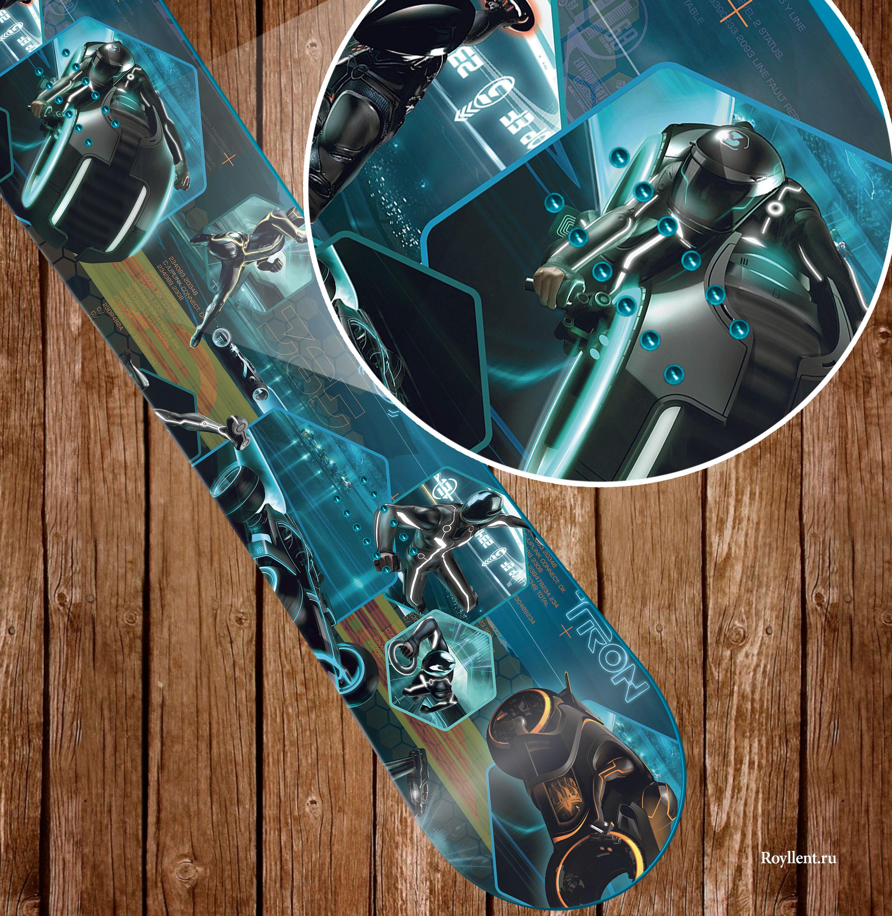 Виниловая наклейка на сноуборд Трон