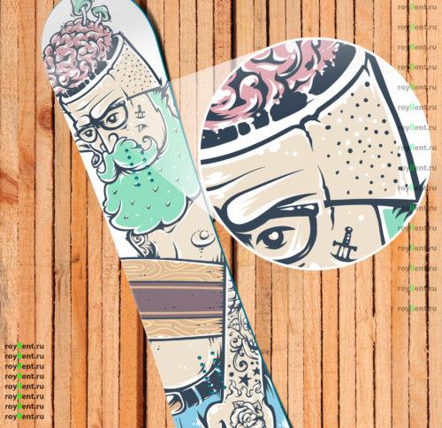 Где купить Hipster виниловую наклейку на сноуборд недорого с доставкой по России