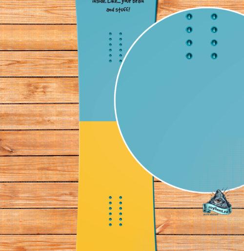 Крутая виниловая наклейка на вашу доску Время Приключений от компании Royllent будет всегда выделять ваш сноуборд среди других досок