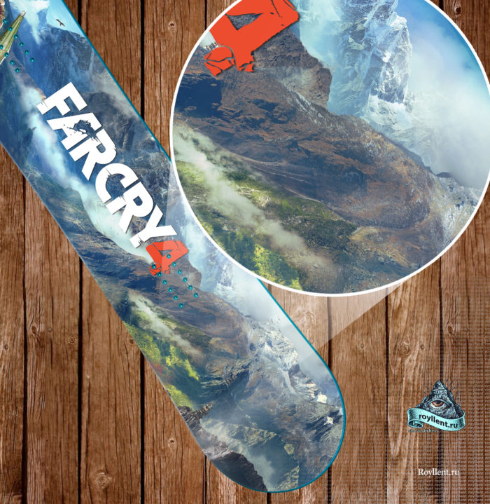 Заказать сноуборд наклейку полноразмерную Сочи
