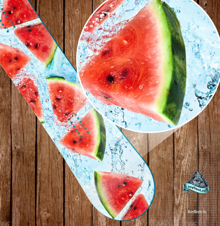 Купить необычную сноуборд наклейку на свою доску watermelon-snowboard