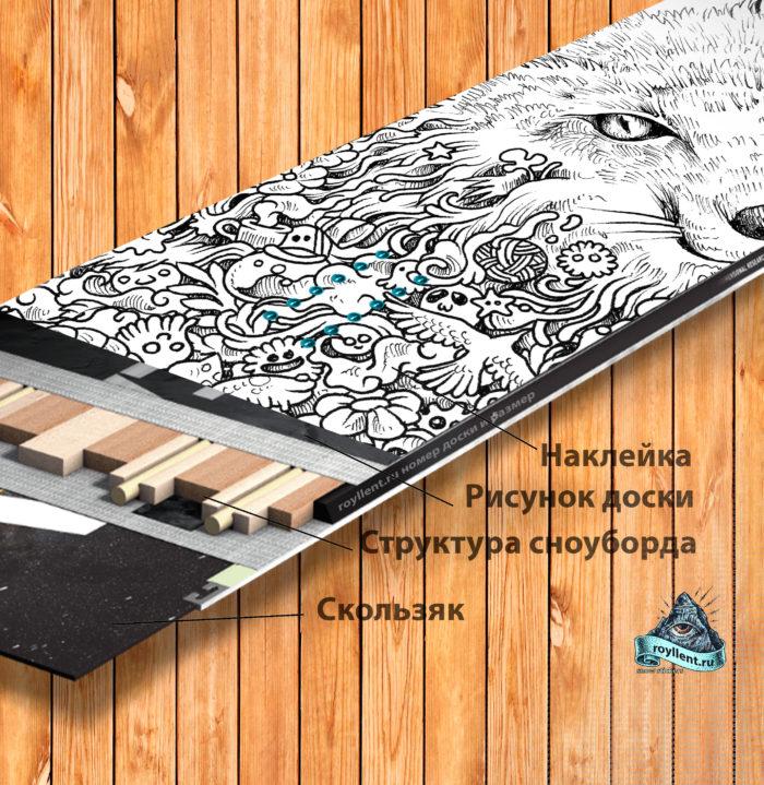 Animorphia-fox виниловая наклейка на сноуборд недорого
