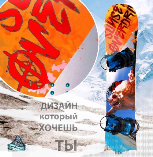 a9a06c73d850 Виниловая наклейка на сноуборд Royllent 2017 Sunset Overdrive Game