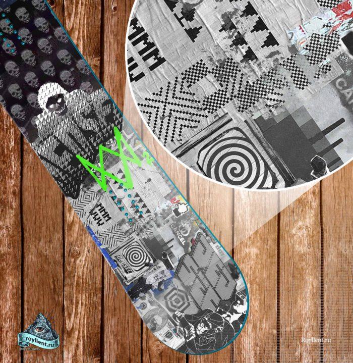watch-dogs-2-art сноуборд наклейка на доску купить недорого