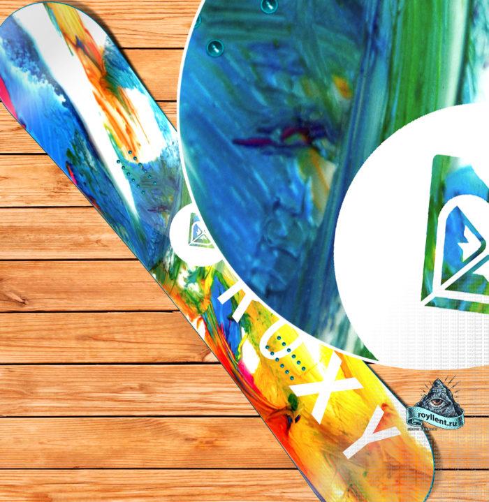 Сноуборд виниловая наклейка Roxy