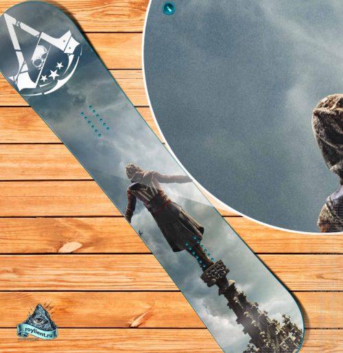 ea561911e068 Виниловая наклейка на сноуборд Royllent 2018 Assassins Creed Game Design