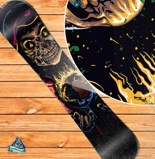bba72078d867 Виниловая наклейка на сноуборд Royllent 2018 Black Sabbath The End Style