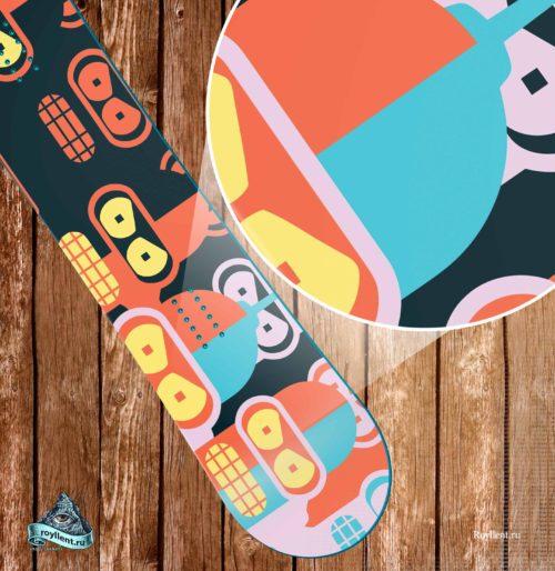 купить наклейку на сноуборд или лыжи бэндер футурама
