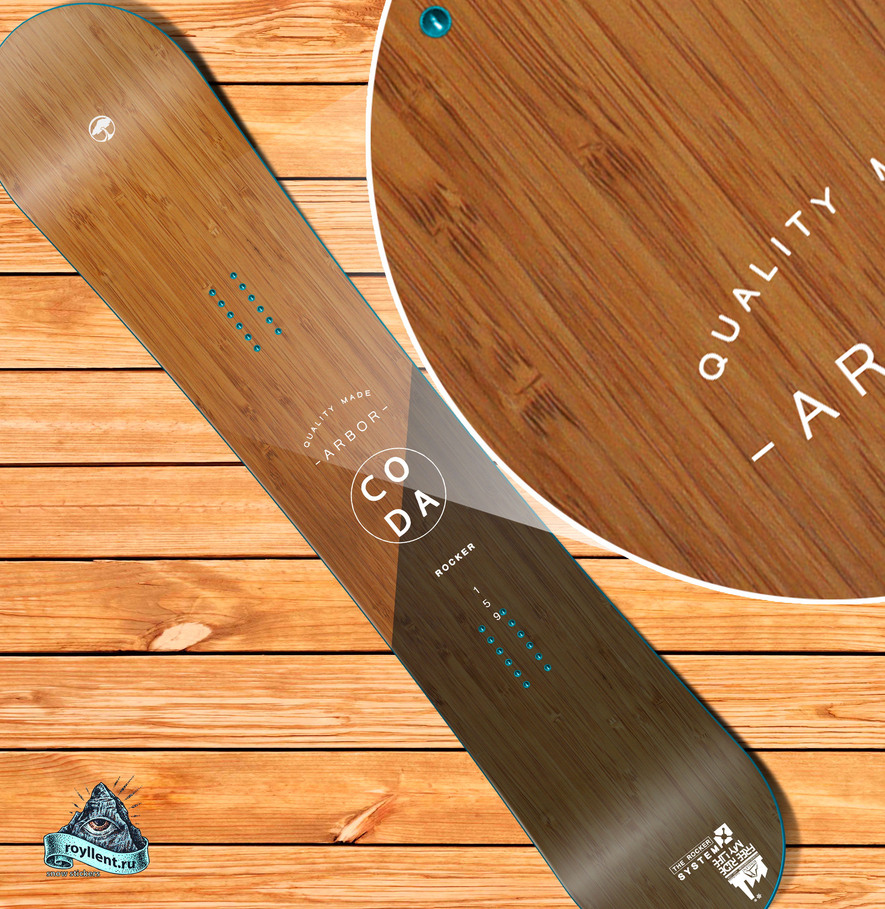 retgnm сноуборд наклейку Arbor Coda Rocker 2019