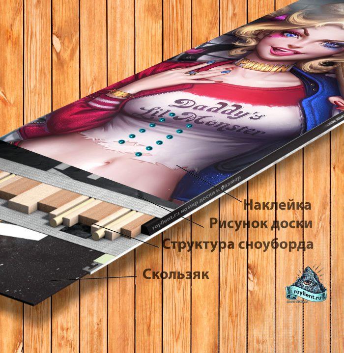 Lolli POP design наклейка на доску Snowboard Topsheet design