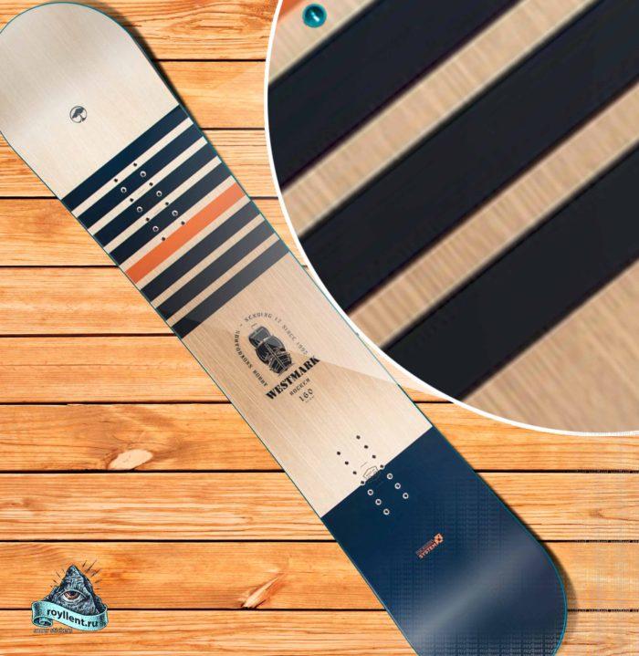 Виниловая наклейка на сноуборд Arbor Westmark Rocker Snowboard 2018