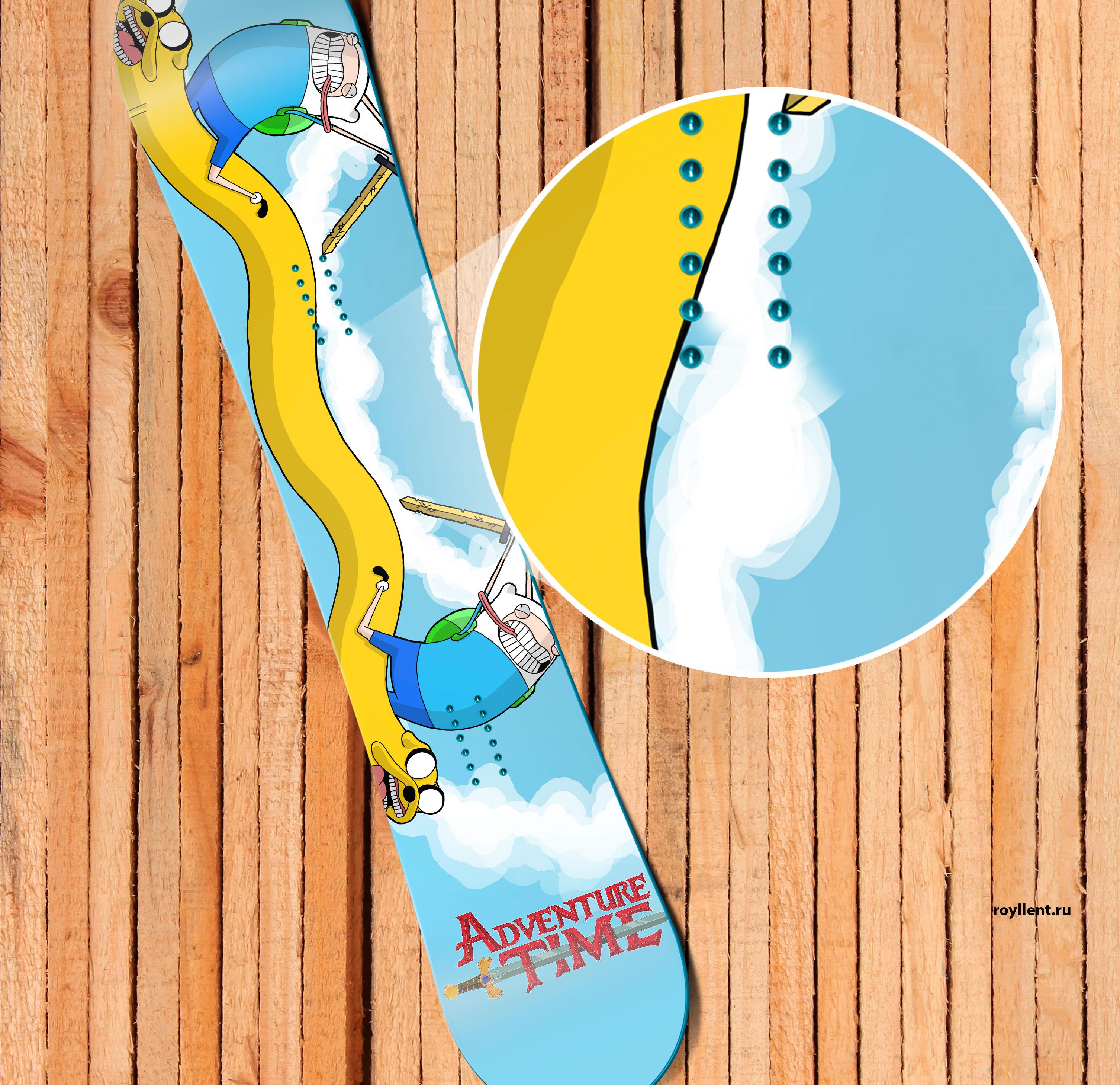 Наклейка на доску купить Adventure Time