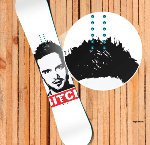 Bitch White snowboard Наклейка в стиле Breaking Bad