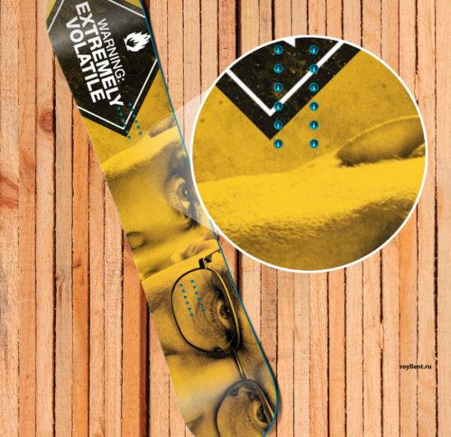 Breaking Bad Наклейка на сноуборд или скейт или лонгборд