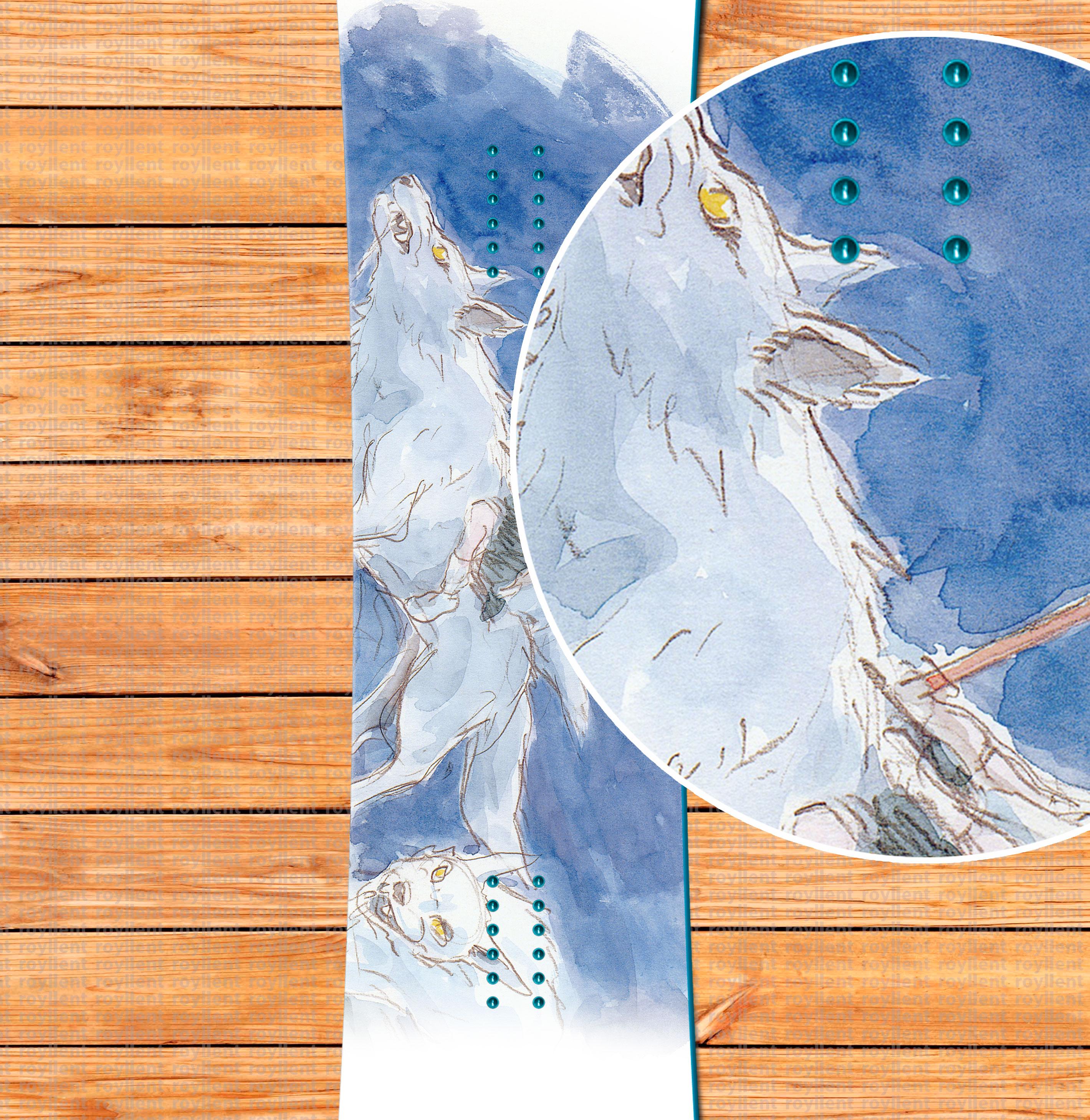 Mononoke Hime Wolf наклейка на доску из винила