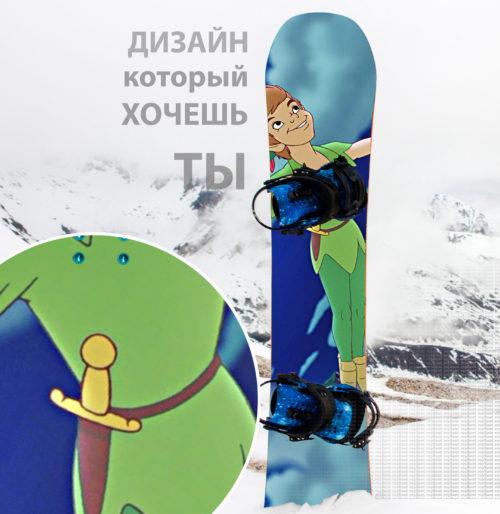 Piter Pen наклейка на сноуборд