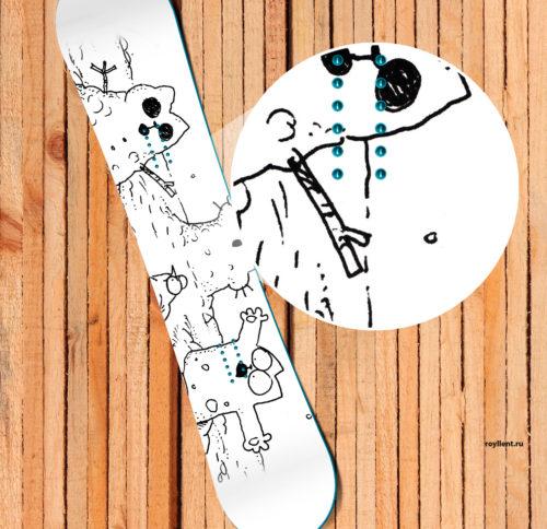 Simons cat Наклейка на доску или сноуборд