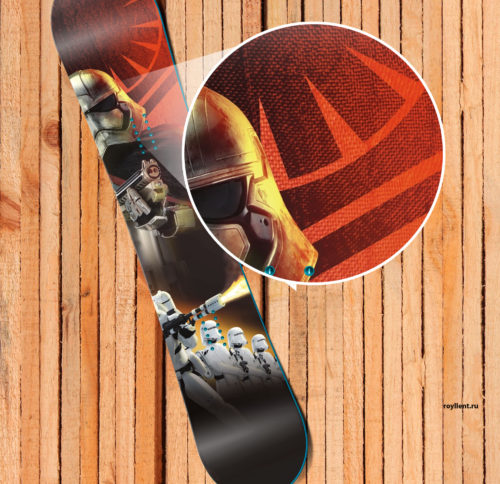 Design snowboard skin Wars The Force Awakens