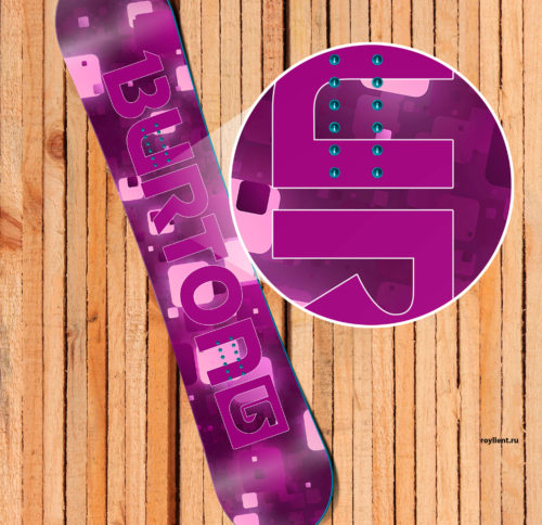 Burton 2016 purple-lights