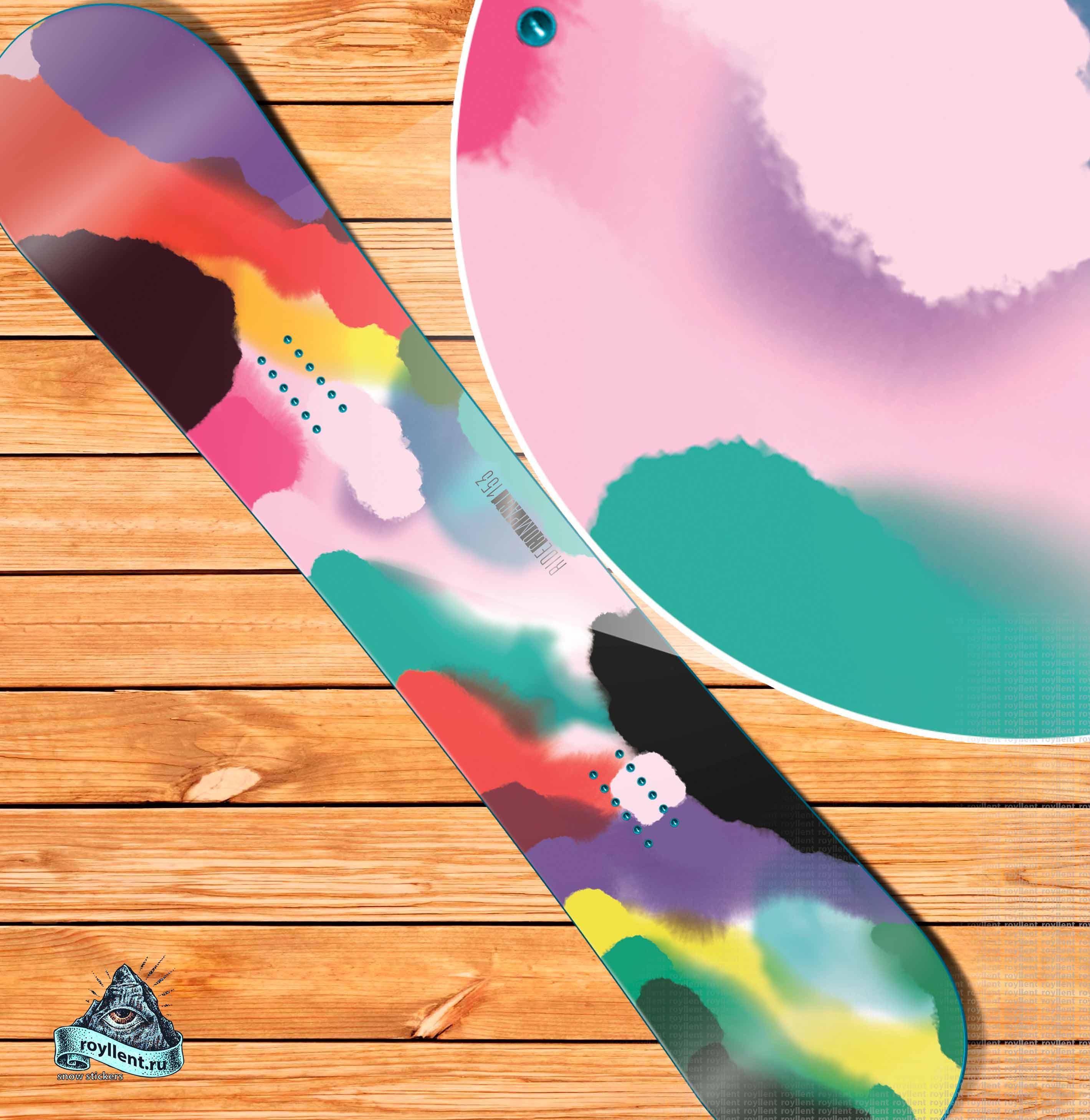 купить пеструю сноуборд наклейку