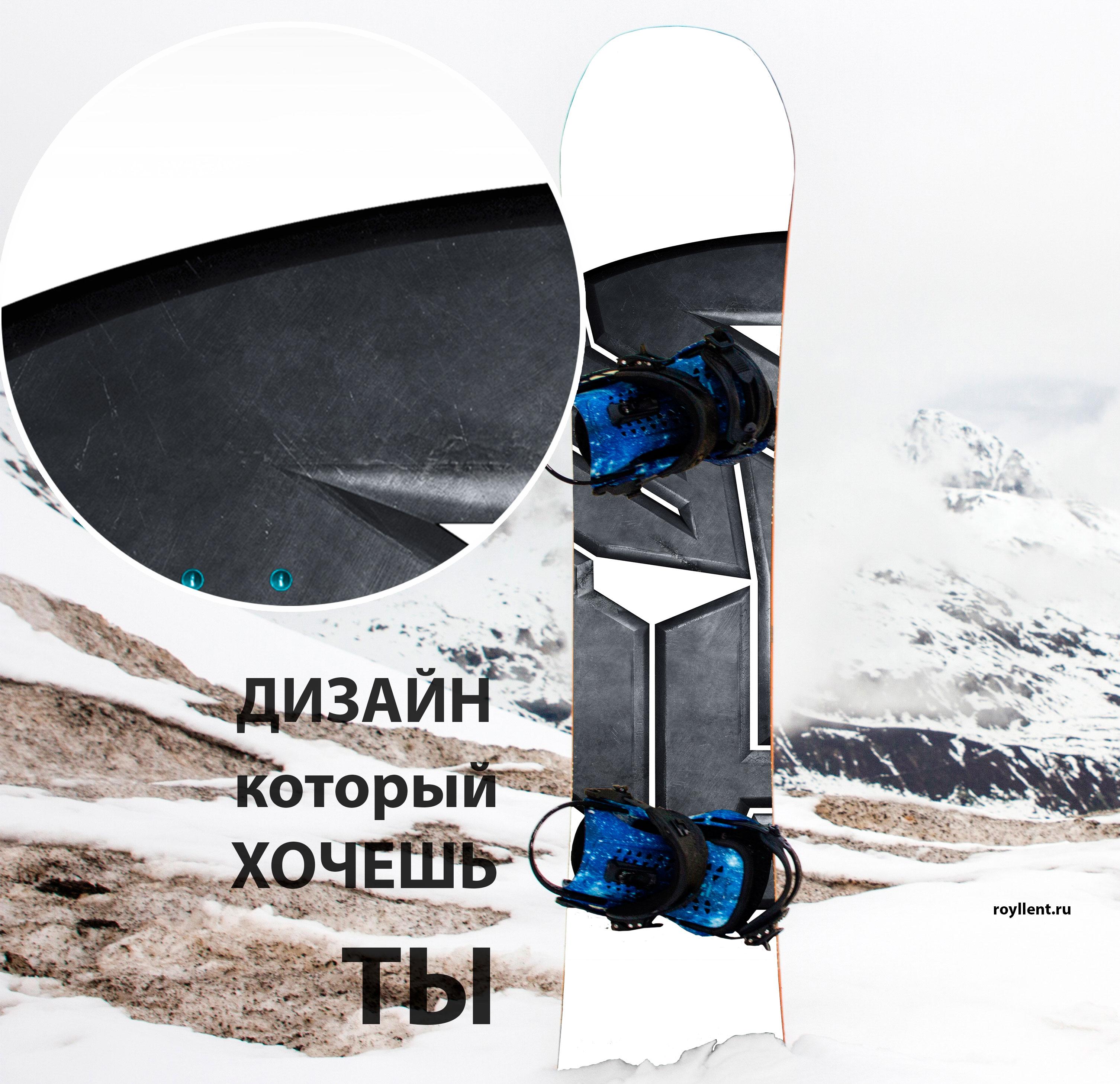 Дизайн сноуборда в стиле Автоботов лого