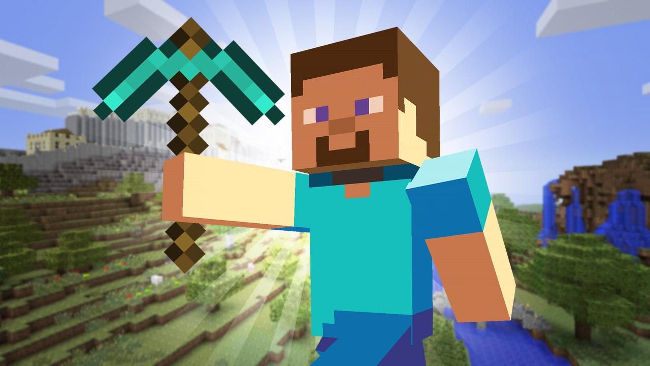 Minecraft (от англ. mine «шахта», «добывать» и англ. craft «ремесло») — компьютерная инди-игра в жанре песочницы с элементами симулятора выживания и открытым миром[21], разработанная шведским программистом Маркусом Перссоном (англ. Markus Persson), известным также как «Notch» (англ. Нотч) и позже выпускаемая основанной Перссоном компанией Mojang. Портированием и поддержкой версий игры для игровых консолей занималась британская компания 4J Studios. В 2014 году компания Mojang и права на Minecraft были приобретены американской компанией Microsoft за 2,5 миллиарда долларов США[4]. Игра написана на Java с использованием библиотеки LWJGL. Она была задумана как клон игры Infiniminer[22][23], хотя Перссон выражал желание уподобить её геймплей игре Dwarf Fortress[24]. Первая публичная альфа-версия игры для PC была выпущена в 2009 году; после постепенных дополнений в 2011 году Mojang выпустила полную версию игры. Minecraft доступна для Windows, Linux, OS X, Android, iOS, Windows Phone, PlayStation 3, PlayStation Vita, PlayStation 4, Xbox 360, Xbox One и Raspberry Pi. Версия игры для сенсорных устройств (телефонов и планшетов) носит название Minecraft: Pocket Edition.