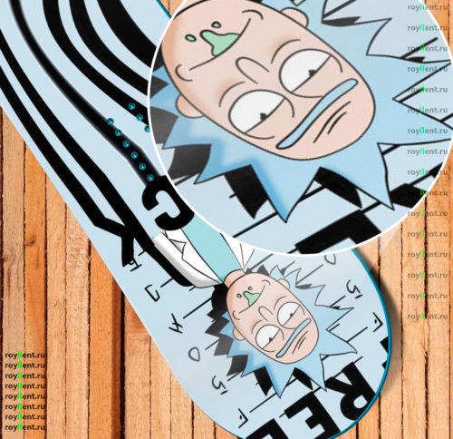 4f0913a9974e Rick and Morty Police Дизайн наклейки на сноуборд купить в интернет  магазине недорого ...