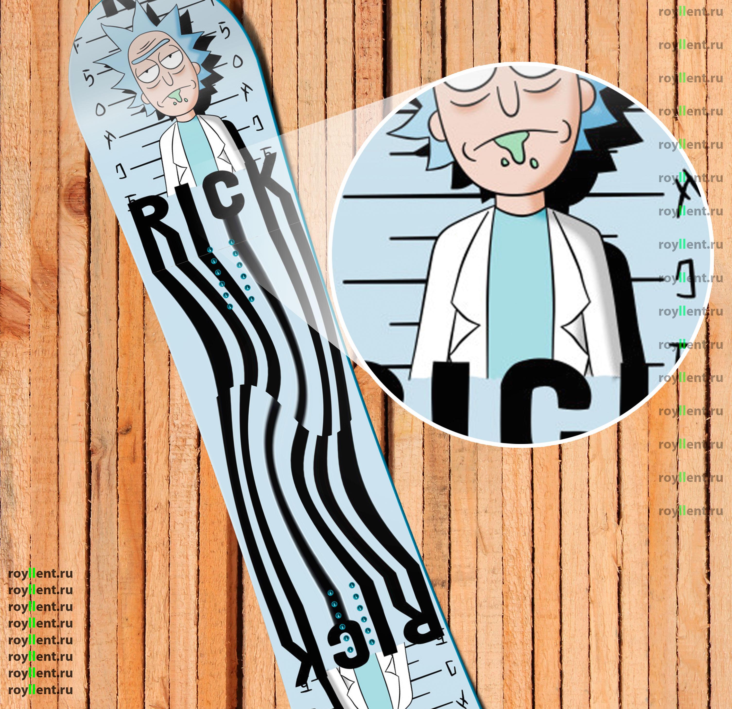 Rick and Morty Police Дизайн наклейки на сноуборд купить в интернет магазине недорого