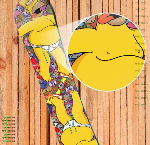 Наклейка на сноуборд Homer Simpson Гомер Симпсон