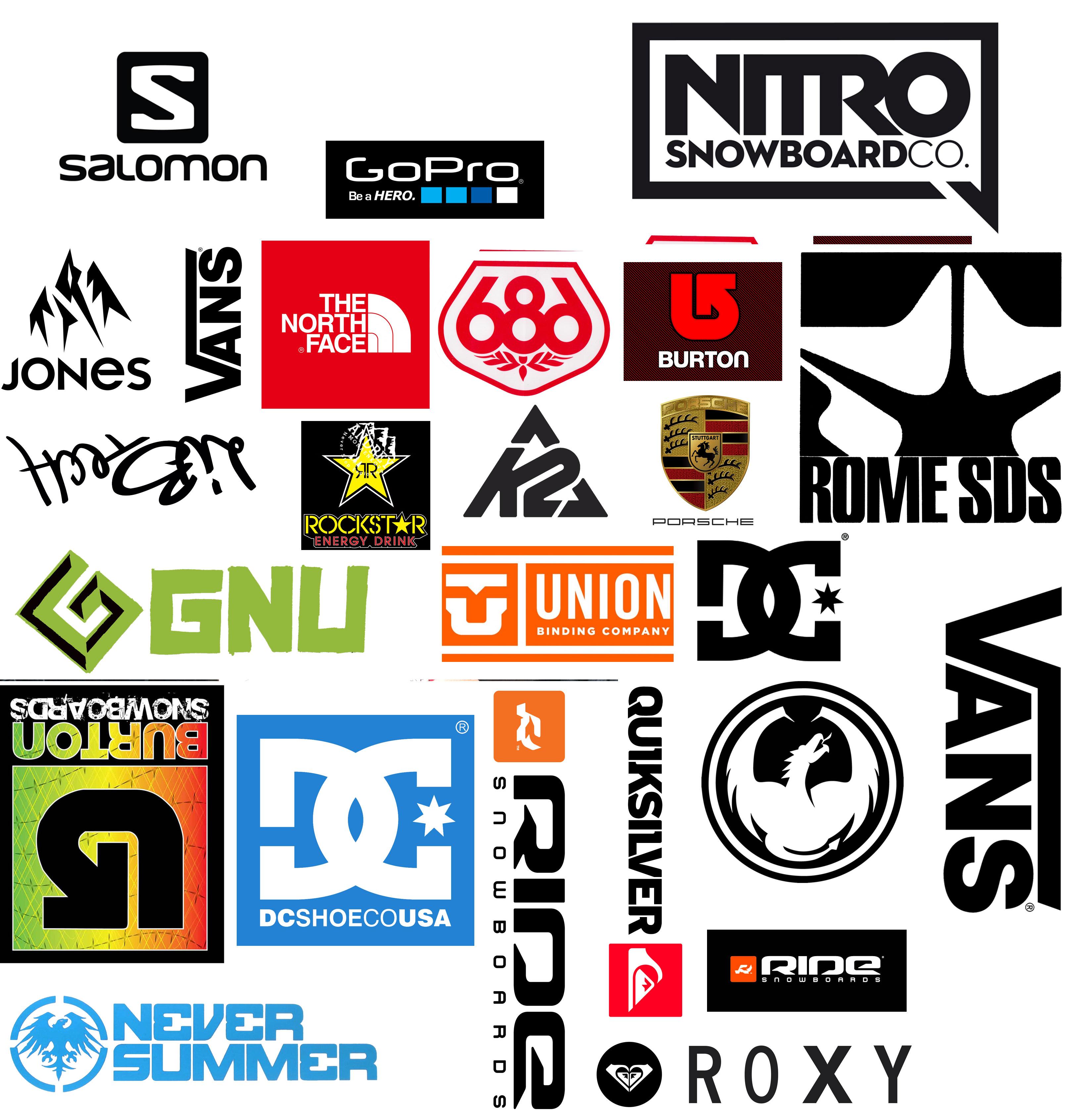 Купить сноуборд стикер недорого в интернет магазине Логотипы сноуборд компаний