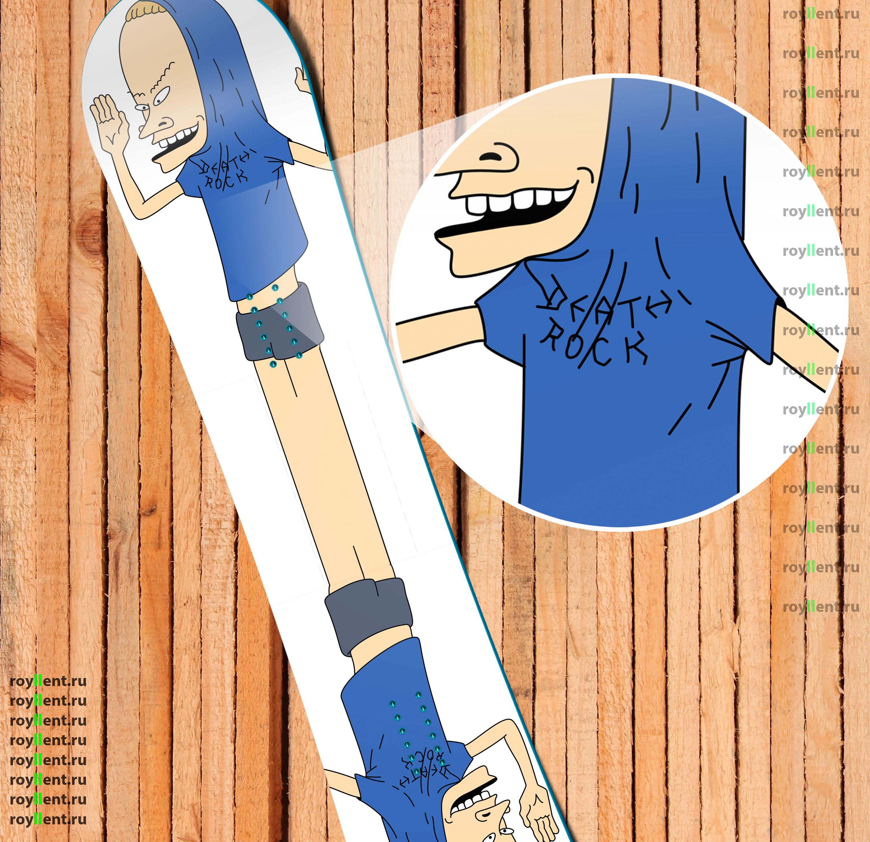 наклейка в стиле биви и батхед на сноуборд интернет магазин