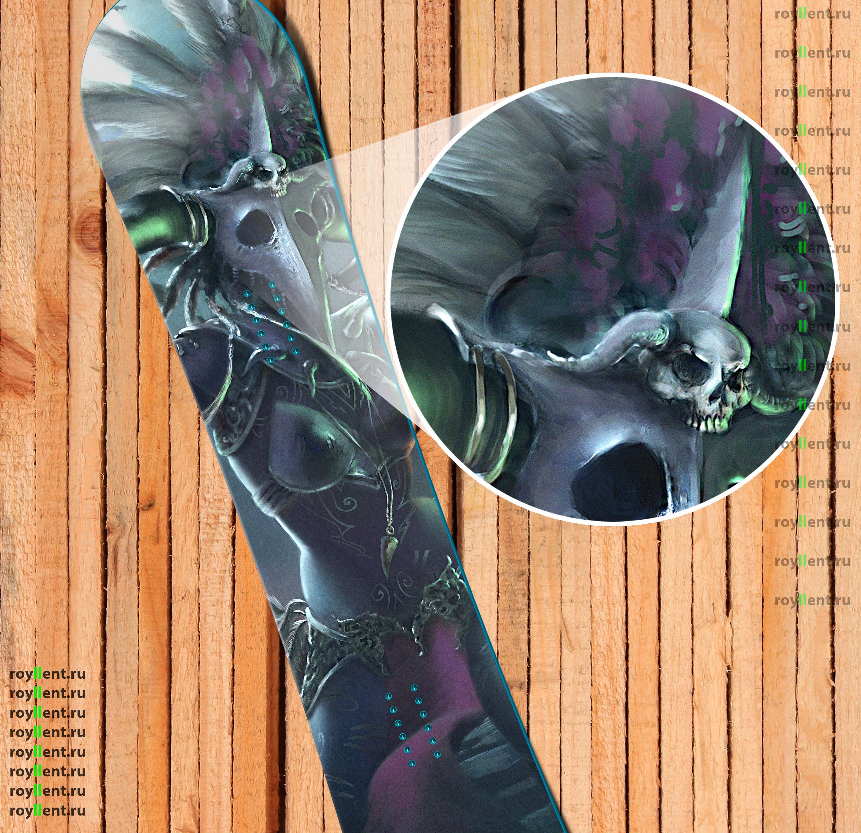 Наклейка виниловая на сноуборд в стиле Голодные игры купить недорого в интернет магазине с доставкой по России