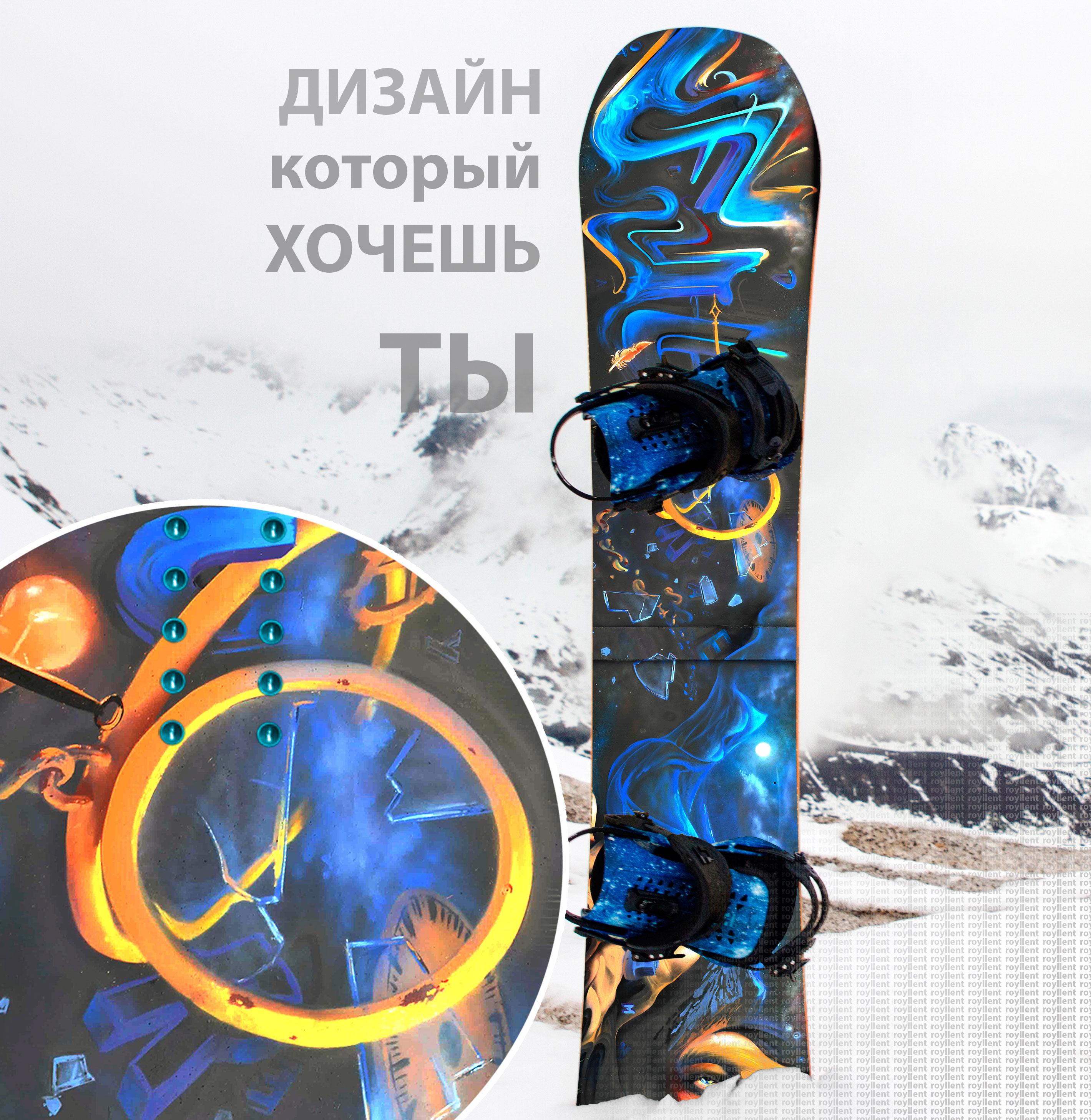 Заказать дизайн наклейки на сноуборд купить с доставкой по России недорого