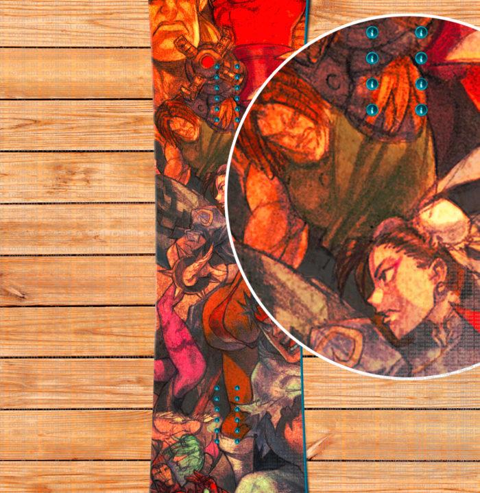 Купить наклейку виниловую на сноуборд недорого с доставкой Marvel-Vs-Capcom-3