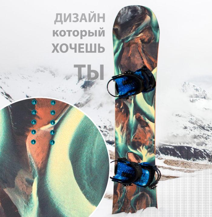 Купить эксклюзивный дизайн наклейки на сноуборд в стиль одежды ONeill