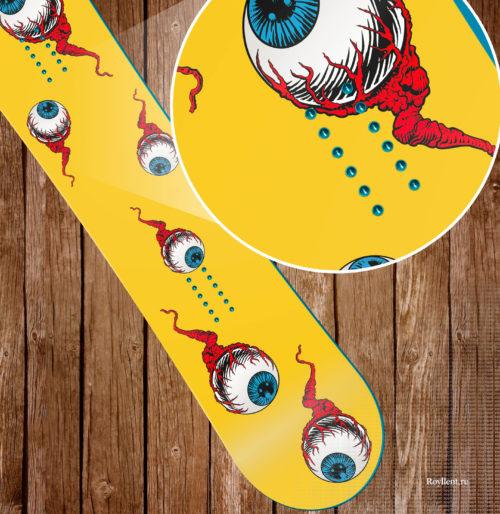 Виниловая наклейка на сноуборд Board Rockers 2016 Screaming Eyes Купить недорого с доставкой по России