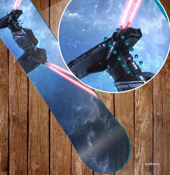 Полноразмерная наклейка на сноуборд купить
