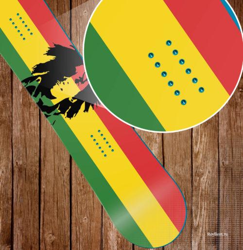 Наклейка на сноуборд Боб Марли растаман стикер 2016