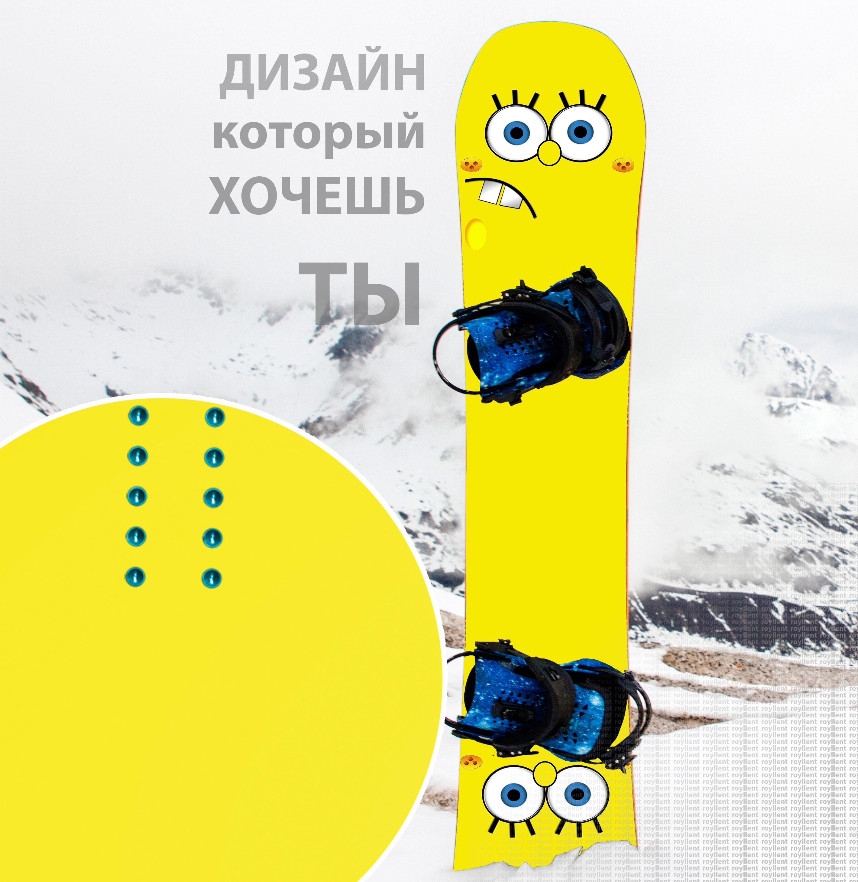 Виниловая наклейка на сноуборд sponge bob no smile Купить недорого с доставкой по России