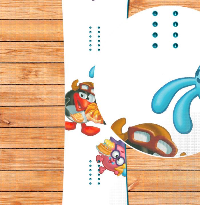 Snowboard sticker, Смешарики, Кировск, Красная глинка, Красный ключ, Куш-Тау, Крош, Ёжик, Нюша, Бараш, Лосяш, Пин, Райдер Миасс, Собь, Солнечная долина, Кар Карыч, Совунья, Копатыч, Уязы-Тау, Федотово, Хвалынск, Чекерил, Шиханы, Зирган-Тау, Ассы-тау, Банное, Зирган-Тау