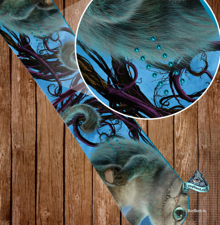 Alice Through the Looking Glass, сноуборд Алиса в зазеркалье, наклейка на сноуборд детская, наклейка на сноуборд для ребенка, сноуборд наклейка для девочки, чеширский кот