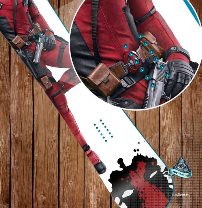 Deadpool наклейка на сноуборд недорого купить