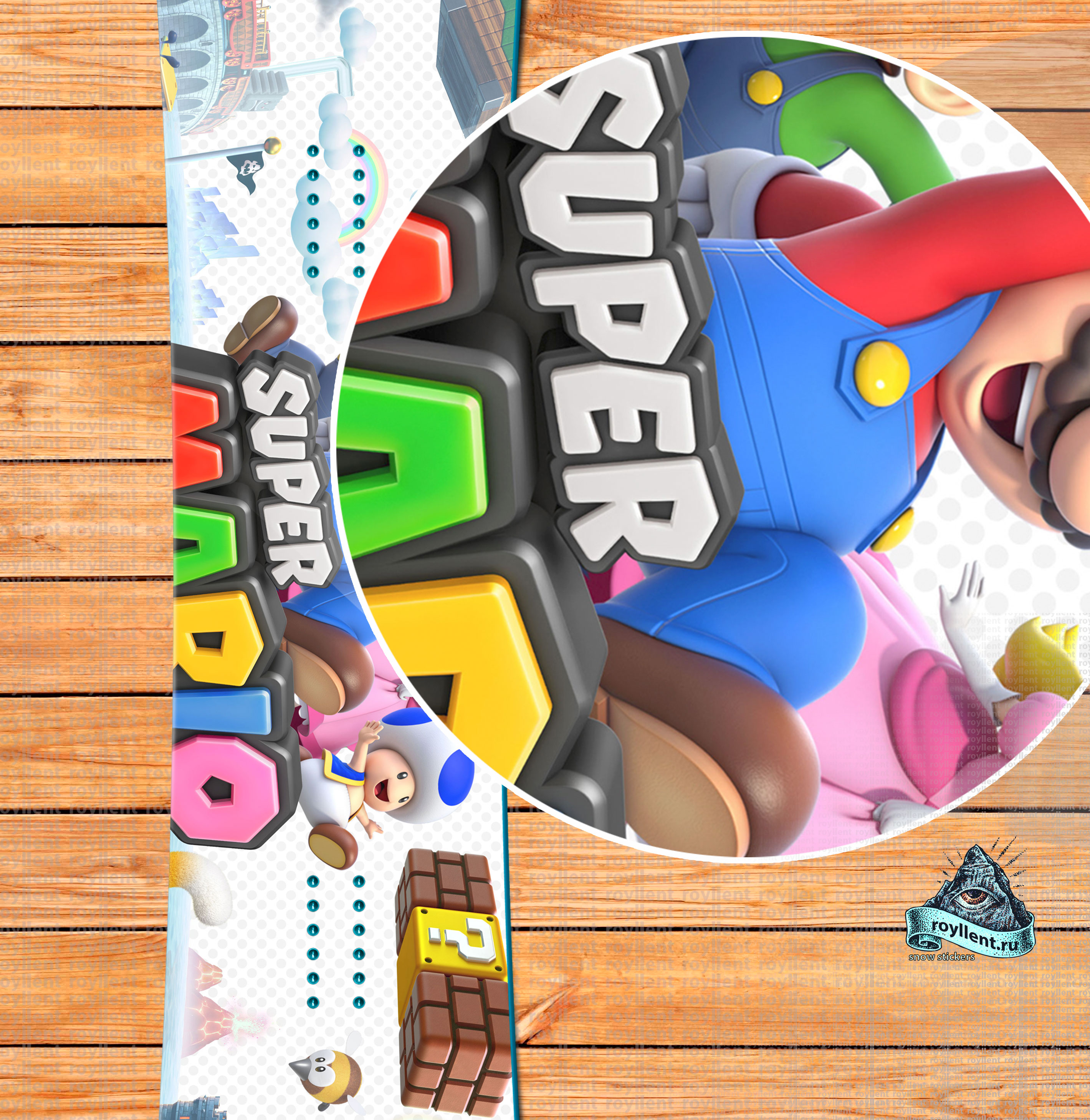 Наклейка Super Mario 3D World, наклейка Super Mario 3D World , наклейка на доску Super Mario 3D World , сноуборд наклейкаSuper Mario 3D World , виниловая наклейка Super Mario 3D World, магазин наклеек Super Mario 3D World , купить наклейку Super Mario 3D World , стикер Super Mario 3D World , sticker Super Mario 3D World , наклейка, Полноразмерная наклейка на сноуборд