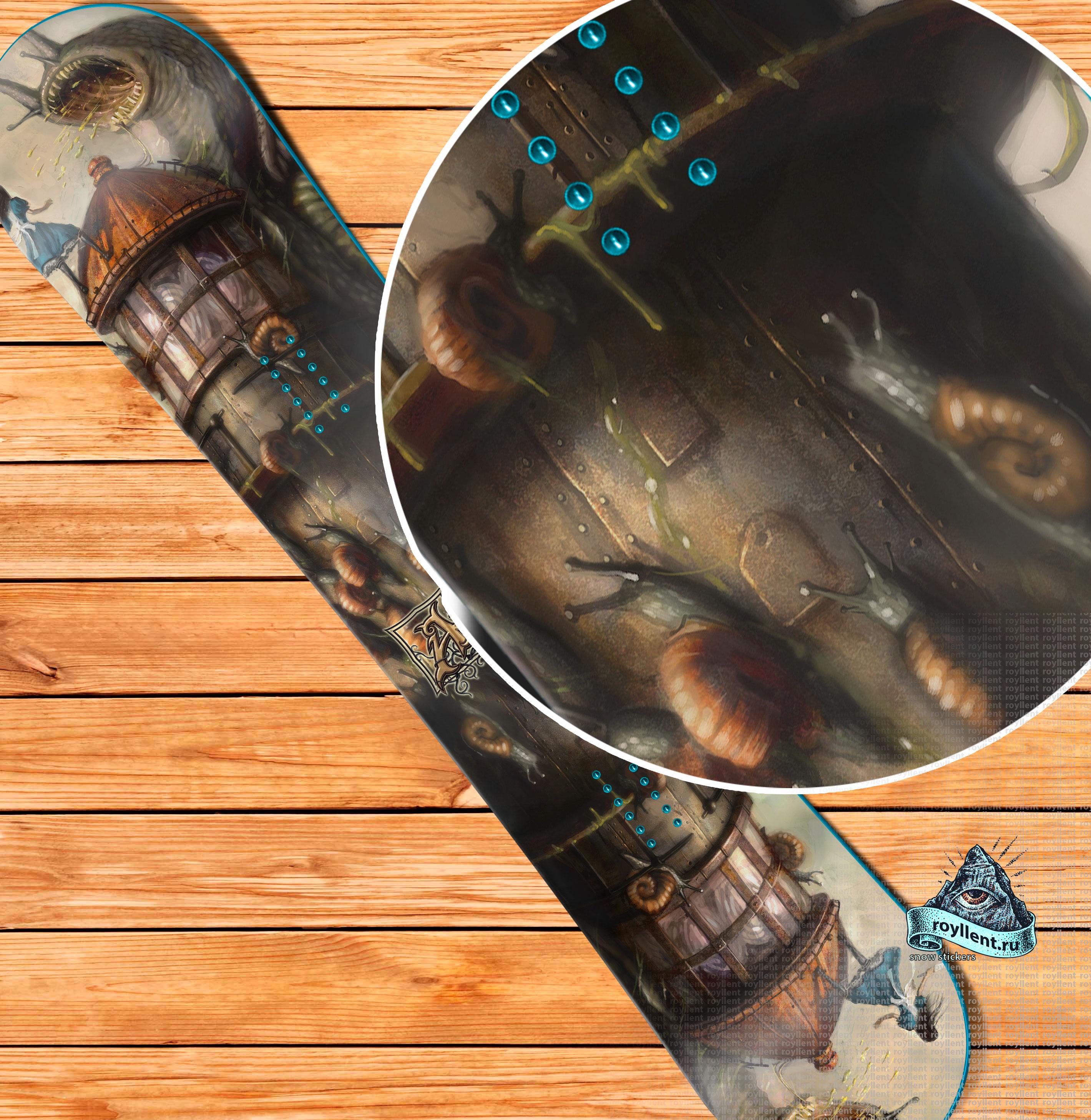 Приключение Алисы наклейка на сноуборд