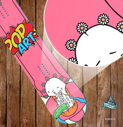 Полноразмерный сноуборд стикер наклека в стиле Pop Art