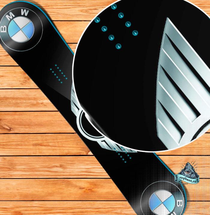 Купить сноуборд наклейку BMW Mini