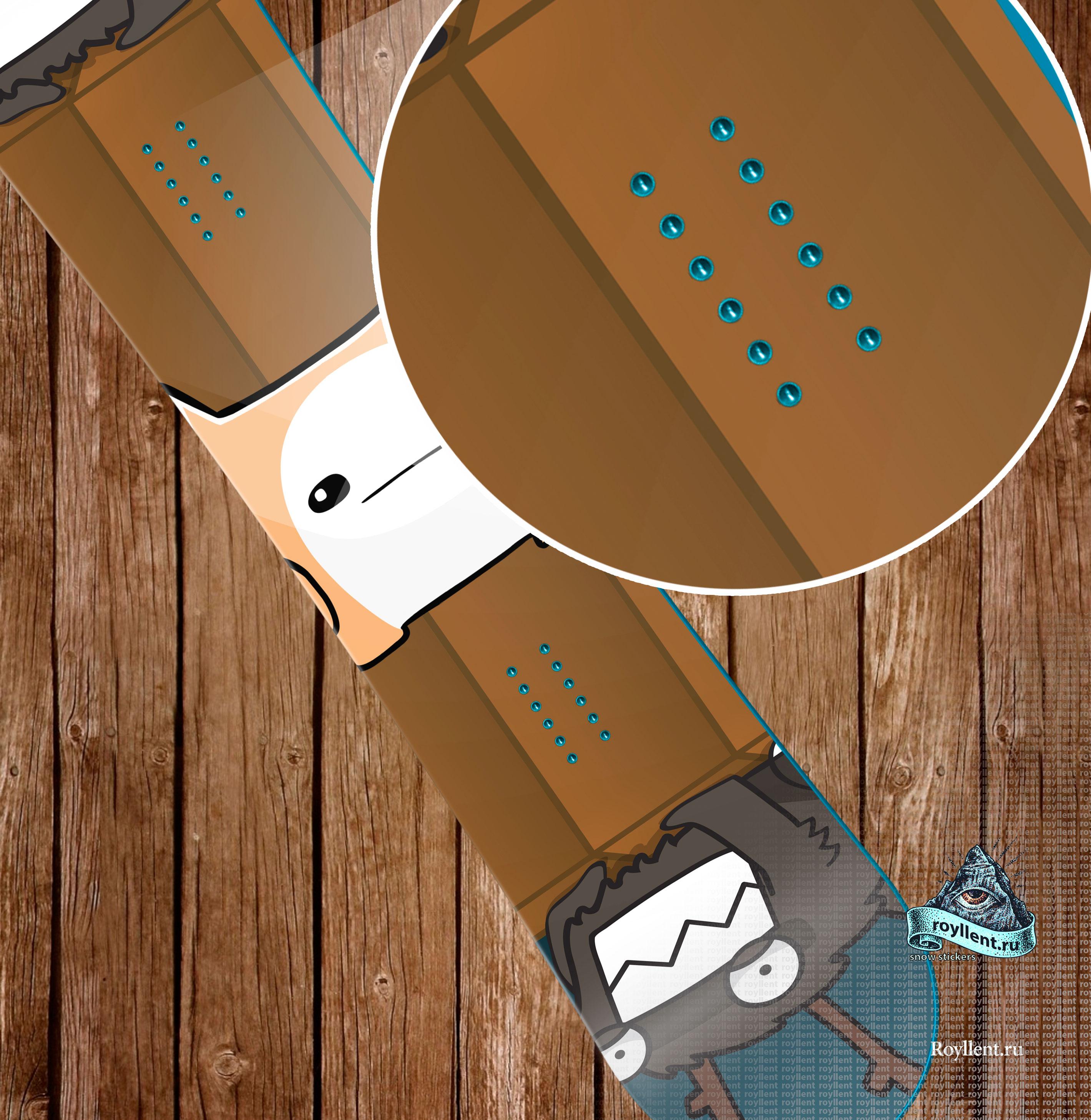 Полноразмерная виниловая наклейка на сноуборд BattleBlock Theate
