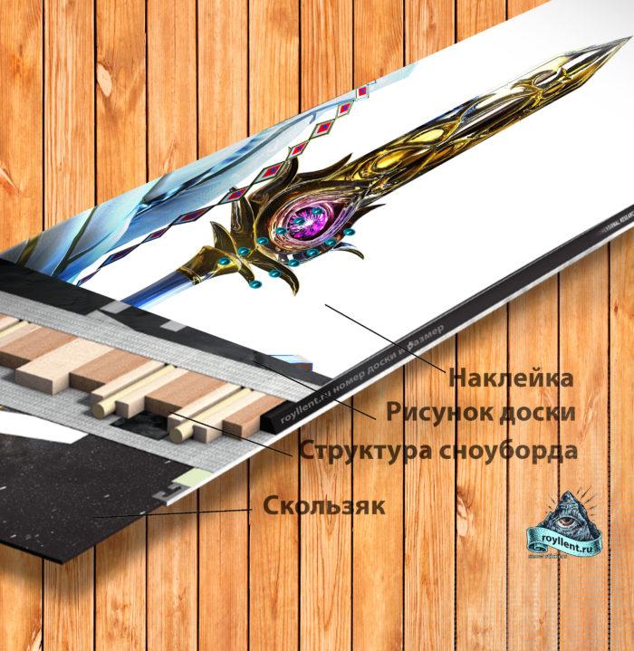 Недорого где можно купить Виниловая наклейка на сноуборд Royllent 2017 Bayonetta 2 Masked Lumen полноразмерная с доставкой по России